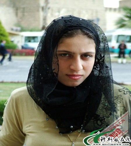 穆斯林美女带头巾