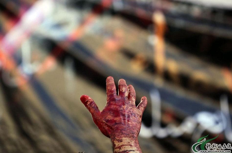 """世界各地什叶派穆斯林""""血祭""""阿舒拉节"""