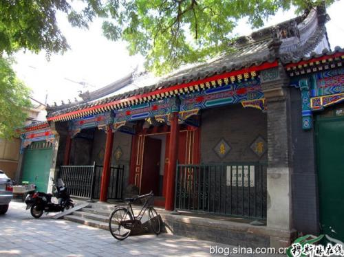 中国木质的清真寺