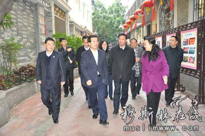 组到广州市考察了越秀区光塔街民族团结进步创建工作