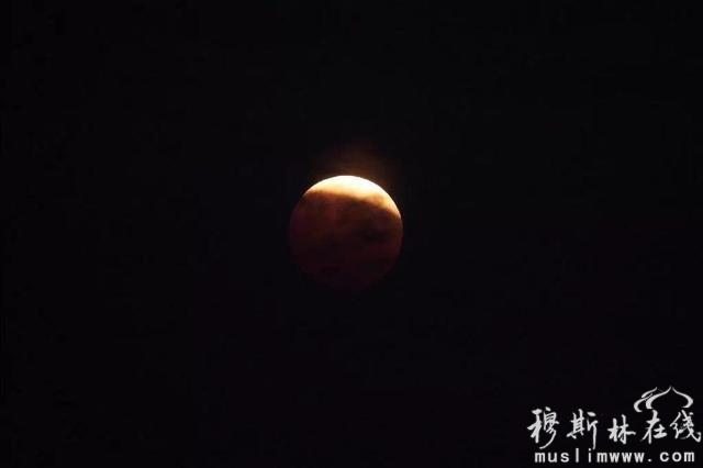 """组图:""""红月亮""""亮相天际 全国多地现月全食"""