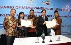 赖清德南向印度尼西亚招生 与33所大学系统签署合作备忘录