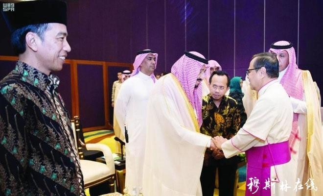 沙特国王访问印尼接见各宗教领袖