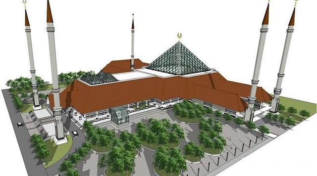 印尼总统参加雅加达最大清真寺落成典礼