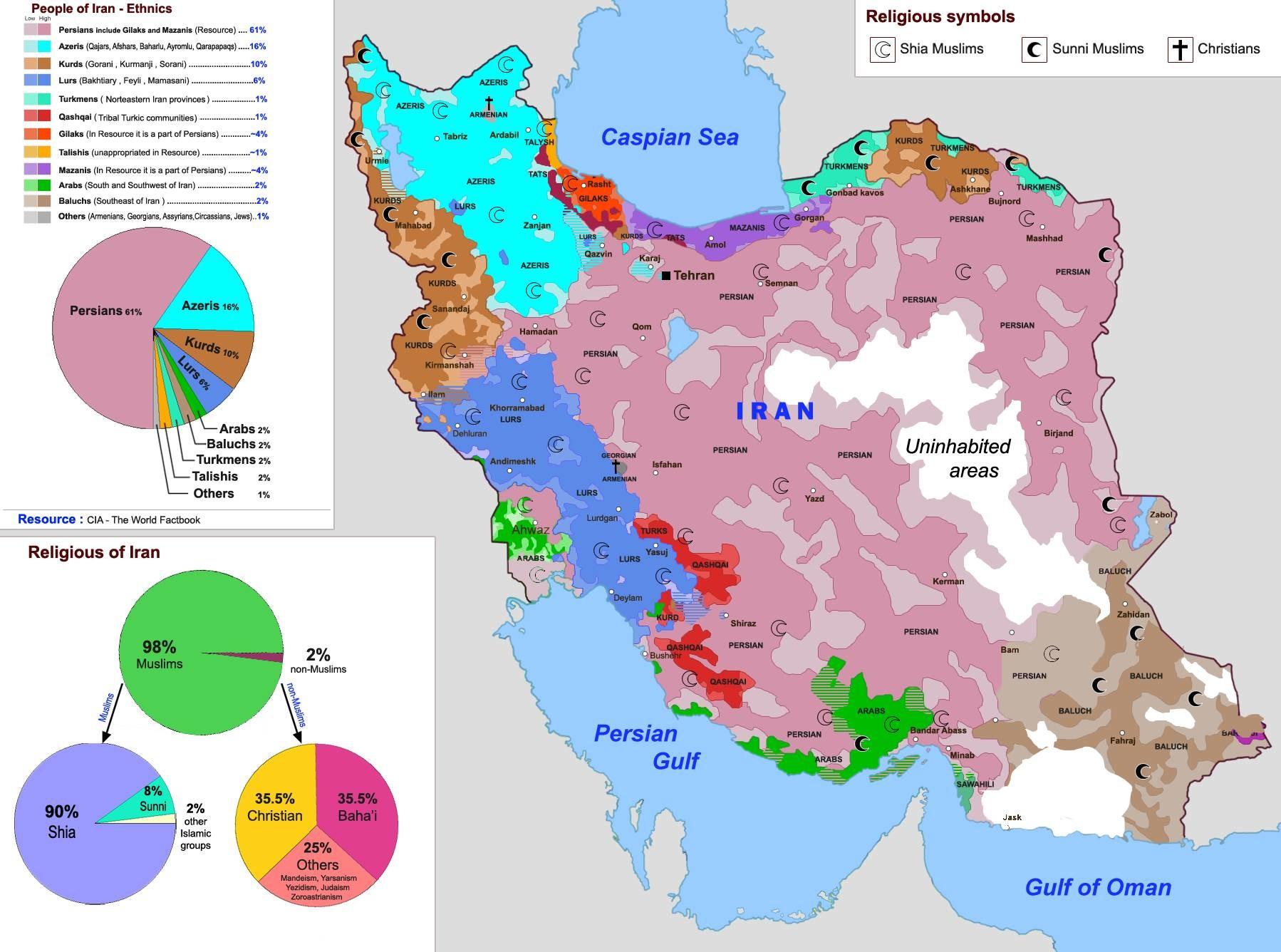 伊朗地图_伊朗的人口