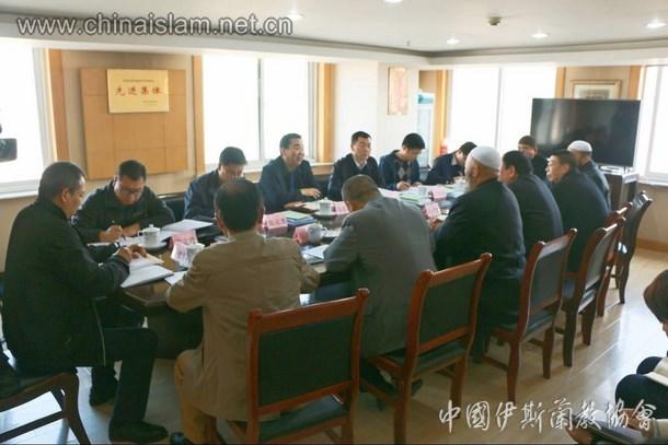 甘肃省委常委、省委统战部部长 马廷礼一行来省伊协视察指导工作