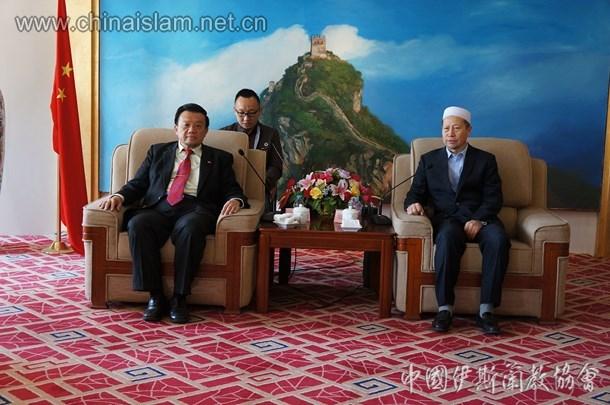 马来西亚宗教领袖代表团拜会中国伊协